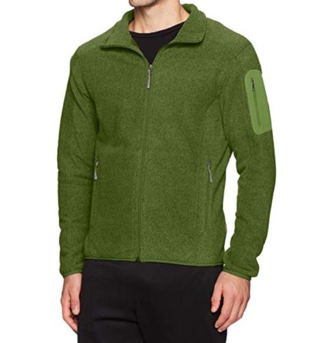 XXL 2XL Men's White Sierra Cloud Rest Full Zip Fleece Jacket Treetop Green