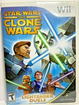 Star Wars: The Clone Wars - Lightsaber Duels (Nintendo Wii, 2008) with Manual - $6.79