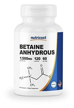 Nutricost Betaine Anhydrous Capsules 1500mg, 60 Servings - Gluten Free, Non-GMO,