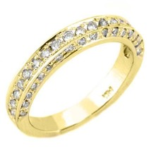 3/4 Carat Womens Antique Round Cut Diamond Ring Wedding Band 14K Yellow Gold - £1,290.96 GBP
