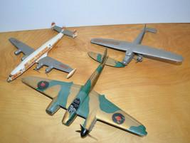 Vintage MILITARY PLANE MODEL Junkyard Parts Lot Fighter Bomber Repair Cu... - $16.83