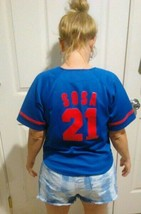 Mlb Chicago Cubs Sammy Sosa #21  Baseball Kids Sz S Jersey Teen Sm Women - $19.30