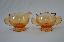 New Martinsville Radiance Amber Creamer & Sugar Bowl - $19.80