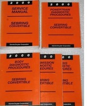 2000 CHRYSLER SEBRING CONVERTIBLE Service Shop Repair Manual SET + DIAGN... - $98.99