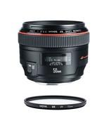 CANON EF 50mm F1.2L USM + HOYA UX UV 72mm Filter - $1,384.73