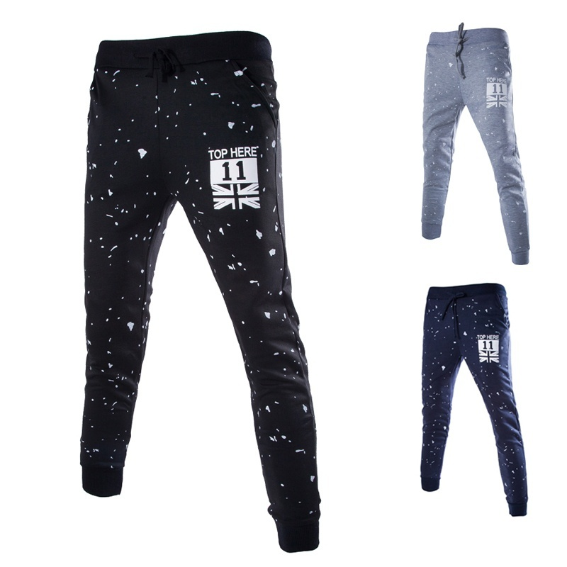 Men Fashion Printed Long Pants Men Hip Pop Style Long Pants Men Casual Pants