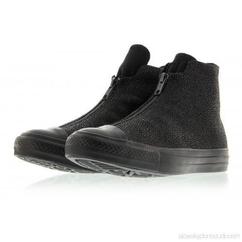 Primary image for Converse Black Textured Leather Shroud Double Zip / Lace Shoes Wms 6 NWT DISC