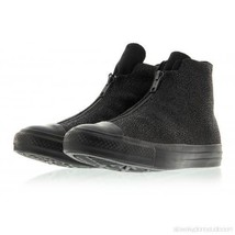 Converse Black Textured Leather Shroud Double Zip / Lace Shoes Wms 6 NWT... - $72.99