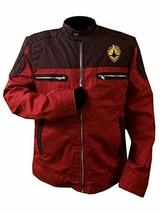 Guardians Of Galaxy Vol 2 Star Lord Peter Quill Chris Red Cotton Biker Jacket image 1