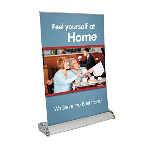 Mini Retractable Banner Stand – Table Top Banner Stand - Portable Banner Stand -