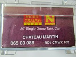 Micro-Trains # 06500086 Chateau Martin 39' Single Dome Tank Car N-Scale image 5