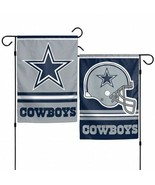 """DALLAS COWBOYS 2 SIDED 12""""x18"""" GARDEN FLAG NEW & OFFICIALLY LICENSED - $10.84"""