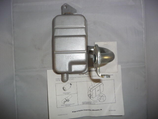 Primary image for Briggs & Stratton OEM Exhaust Muffler 494717 *New* RP#1 1 Day Shipping