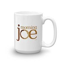 Morning Joe Logo Ceramic Mug, White 15 oz - Official Mug As Seen On MSNBC with J image 1