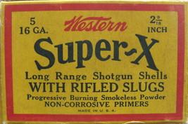 Vintage Western Super X Empty Cardboard Box - (sku#4896) - $15.49