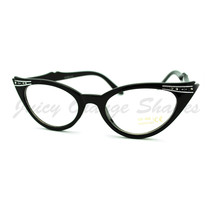 Vintage Cateye Clear Lens Glasses Womens High Fashion Eyewear - $7.95