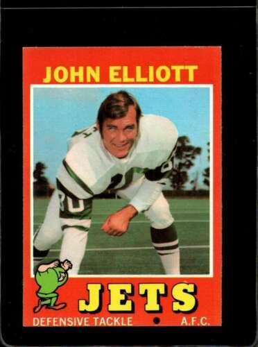 1971 TOPPS #153 JOHN ELLIOTT EXMT NY JETS  *X2772