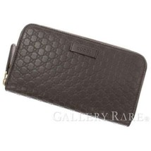 d63bd297e60c GUCCI Micro Guccissima Leather Dark Brown 449391 Wallet Outlet Authentic...  - $502.90