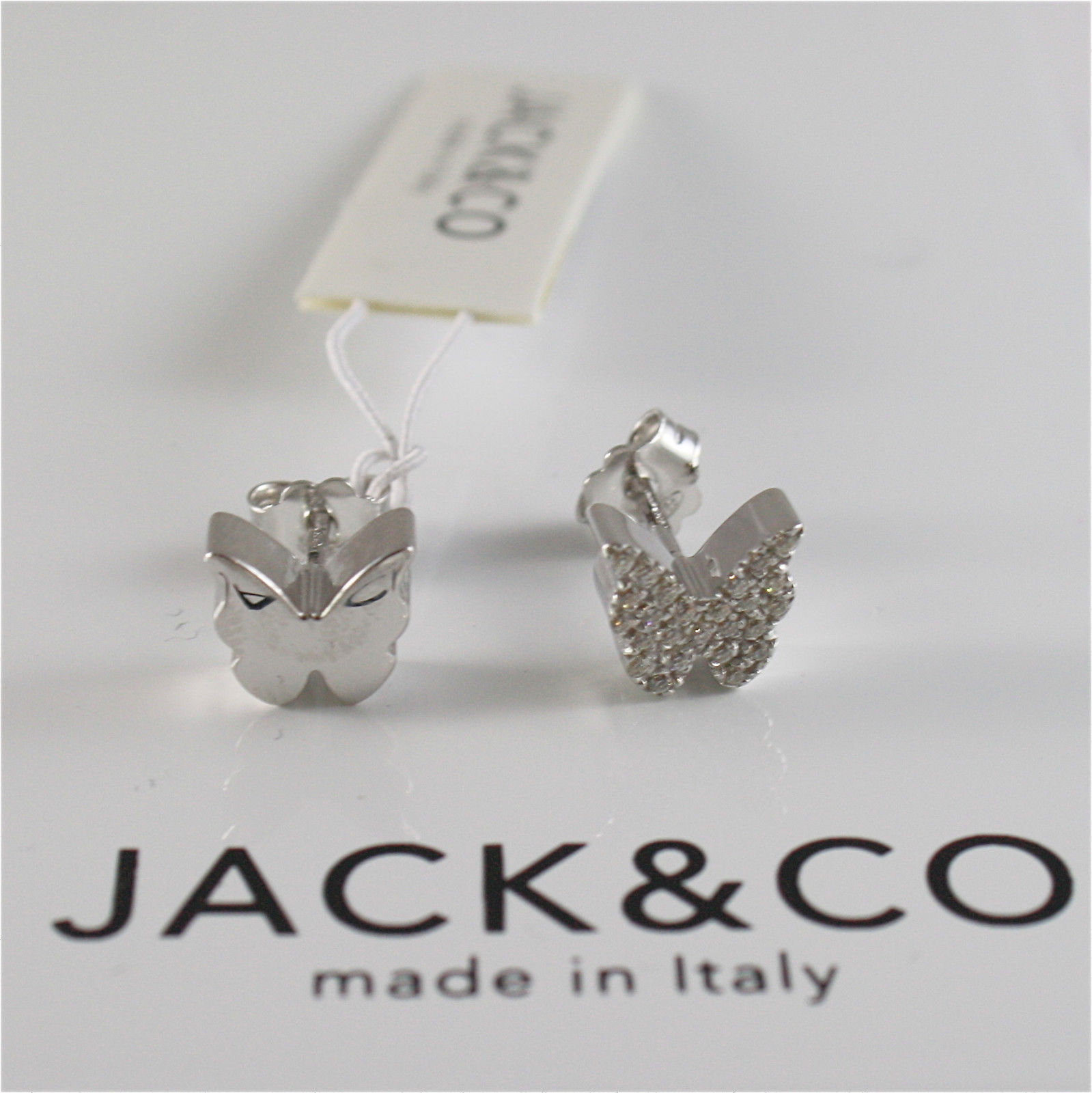 EARRINGS SILVER 925 JACK&CO WITH BUTTERFLY WITH ZIRCON CUBIC JCE0451