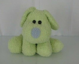 """Best Made Toys Stuffed Plush Puppy Dog Lime Green Curly Fur Bean Bag 9"""" - $49.48"""