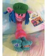 "Build A Bear Dreamworks Trolls Plush Cooper Doll 12"" Toy Pink Green Blue... - $33.38"