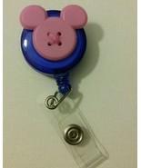 Mickey Mouse badge reel key ID holder lanyard retractable Disney scrubs ... - $8.50