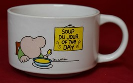 Ziggy Soup Du Jour of the Day Soup Bowl with Handle Stoneware Tom Wilson - $9.89