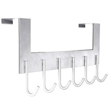 Door Hanger Hook- 6 Over Door Hooks, Over The Door Hook Hanger for Clothes Hat C
