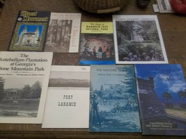 8 Vintage Travel Booklets Mammoth, Muir, Hearst, Natchez, Ft. Laramie, S... - $33.00