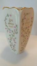 "Lenox 7"" Porcelain ""Love"" Vase - Gold Trim - Made in the USA - $15.00"