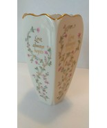 "Lenox 7"" Porcelain ""Love"" Vase - Gold Trim - Made in the USA - $15.00"