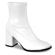 "GOGO150/WPU Sexy 3"" Heel Gogo Dancer White Ankle Boots Halloween Costume... - $39.85"