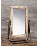 Brown Metal & Wood Table Mirror - $75.99