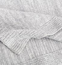 Kashwere Lightweight Throw Blanket Heather Stone Grey & Cream - $155.00