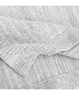 Kashwere Lightweight Throw Blanket Heather Stone Grey & Cream - $158.00