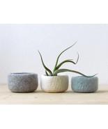 Felted wool bowls/light grey, white, grey green/minimalist home decor/de... - $45.00