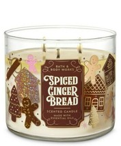 Bath & Body Works Spiced Gingerbread 3 Wick Scented Candle 14.5 oz - $24.30