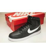 Nike Men's Ebernon Mid Sneakers Black - $59.00