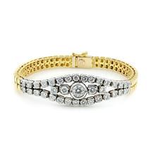 18KT Gold 2.75cts Diamond Smooth Bracelet 32gr - $6,209.67