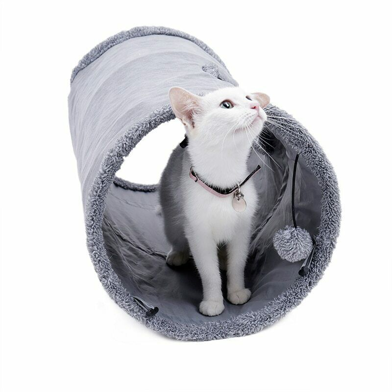 Collapsible Cat Tunnel Crinkle Kitten Play Tube For Large Cats Dogs Bunnies Toy  image 8