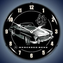 Mercedes Benz convertible sports car advertising LED LIGHT UP clock Fast... - $159.95