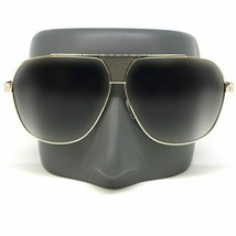 Oversized Square Aviator Metal Bar Retro Frame Men Gold Frame Sunglasses - $13.57