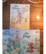 Set of 3 Bible stories the story of Joshua Jonah Paul Alice Joyce Davids... - $12.58