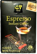 G7 Espresso Instant Coffee 15 Sticks x 2.5 g ( Pack of 6 ) ~ US SELLER - $33.65