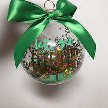 Glass Ornament Let's Get ELFED UP Glass Ball Ornament with Confetti 3.5in - $16.39