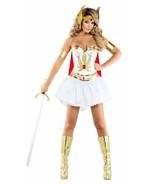 Sexy Starline Power Princess Warrior White Corset Dress 5pc Costume S6155 - $89.99