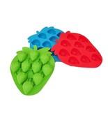 Silicone Strawberry Ice Frozen Mold Tray Candy Maker Sugarcraft Decorati... - $6.79