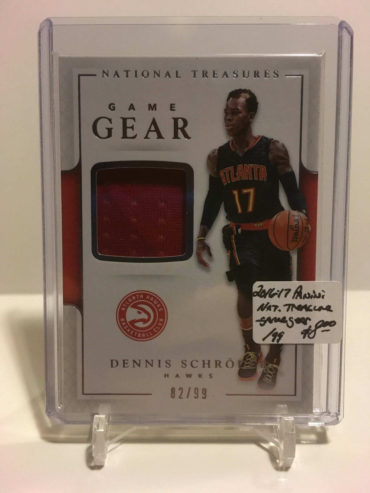 Primary image for 2016-17 Panini National Treasures - Game Gear AUTO #11 Dennis Schroder 82/99