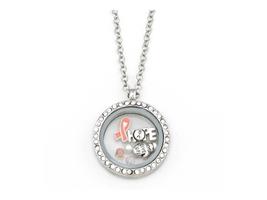 Silvertone HOPE Floating Charm Locket Pendant Necklace - $16.95