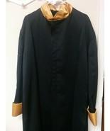 Mens Gently Worn Praise Dance Robe Black Gold Liturgical Church Robe XL - $49.00